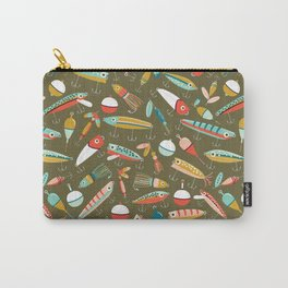 Fishing Lures Green Carry-All Pouch