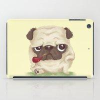 pug iPad Cases featuring Pug by Toru Sanogawa