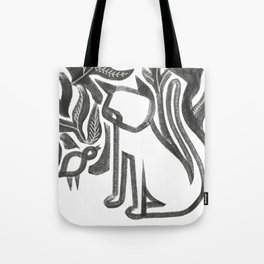 Bird and Cat Tote Bag