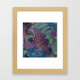 Blue and purple spirals Framed Art Print