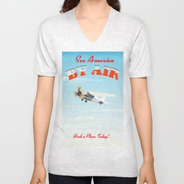 See America! by air - Book a plane today. Unisex V-Neck