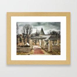 Architectural Park - Davenport, Iowa - Winter 2017 Framed Art Print