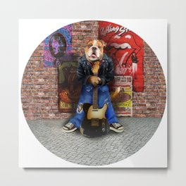 The Rock and Roll Dog Metal Print