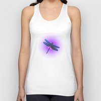 dragonfly Tank Tops featuring Dragonfly by JT Digital Art
