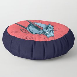 Hannya Mask Floater Floor Pillow