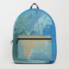 Seafoam Modern Abstract Painting Backpack