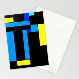 mondrian glance Stationery Cards