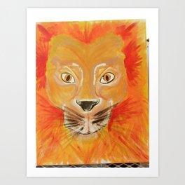 Rawr Lion Art Print
