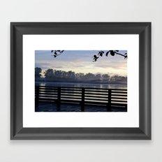 The Dock at night Framed Art Print