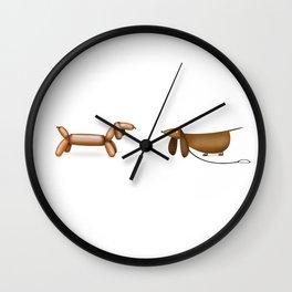 a Dachshund and a Balloon Wall Clock