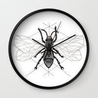 insect Wall Clocks featuring insect by silb_ck