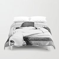 apollonia Duvet Covers featuring asc 552 - Les petits voyeurs (Small voyeurs) by From Apollonia with Love