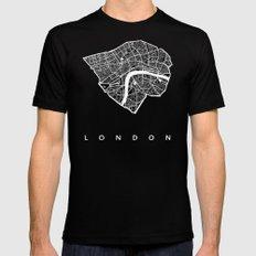 LONDON Black Mens Fitted Tee MEDIUM