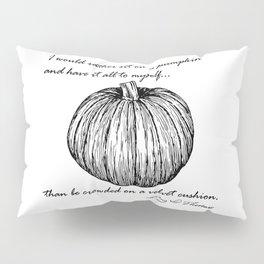 Thoreau's Pumpkin Pillow Sham