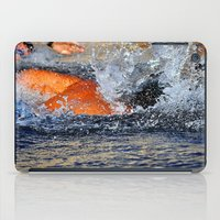 swimming iPad Cases featuring swimming by  Agostino Lo Coco