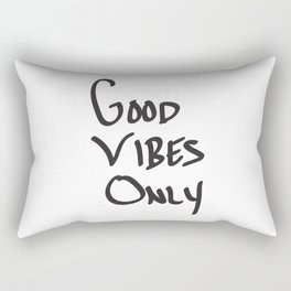 Good Vibes Only Rectangular Pillow
