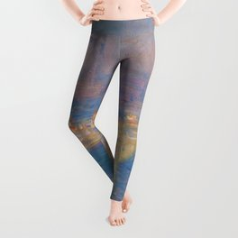 "Claude Monet ""Waterloo bridge"" Leggings"