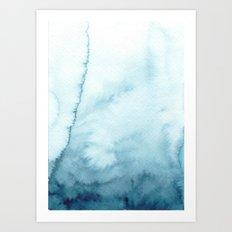 indigo shibori 07 Art Print