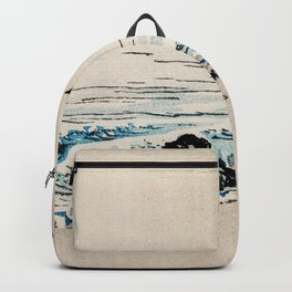 Beach Scenery Traditional Japanese Landscape Backpack