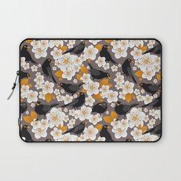 Waiting for the cherries II // Blackbirds brown background Laptop Sleeve