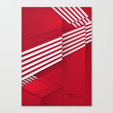 Optical illusion_red Canvas Print