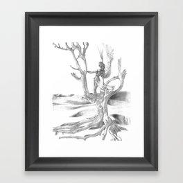 Desert Tree Framed Art Print