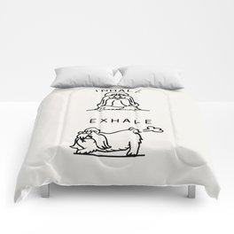 Inhale Exhale Shih Tzu Comforters
