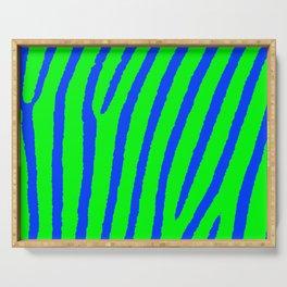Zebra Print (Green & Blue) Serving Tray