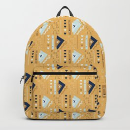 Orange Memphis Style Geometric Abstract Seamless Vector Pattern Backpack