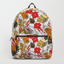 Retro Fall Floral Backpack