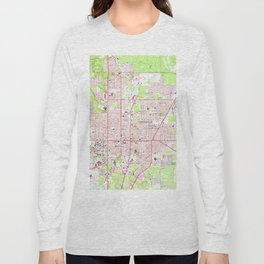 Vintage Map of Gainesville Florida (1966) Long Sleeve T-shirt