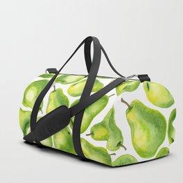 Green pears watercolor pattern Duffle Bag