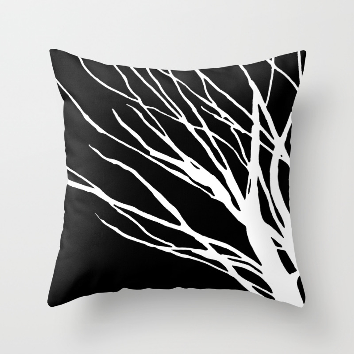 Black And White Cookie Blues Throw Pillow
