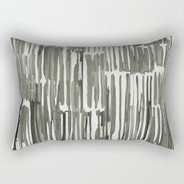 Simply Bamboo Brushstroke Green Tea on Lunar Gray Rectangular Pillow