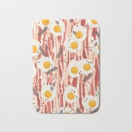 Bacon and eggs Bath Mat