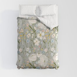 spring romance - dainty floral Comforters