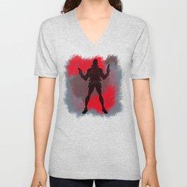 Red Hood Splatter Background Unisex V-Neck
