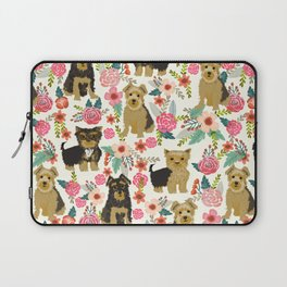 Yorkshire Terrier cute florals must have gifts for dog lover yorkie owners delight secret gifts art Laptop Sleeve