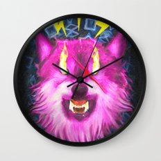 Eye Of The Wolf Wall Clock
