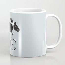Rabbit Cyclist Coffee Mug