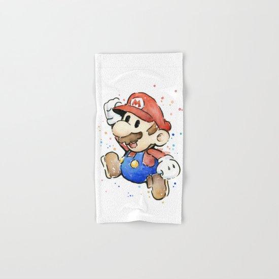 Mario Watercolor Hand & Bath Towel