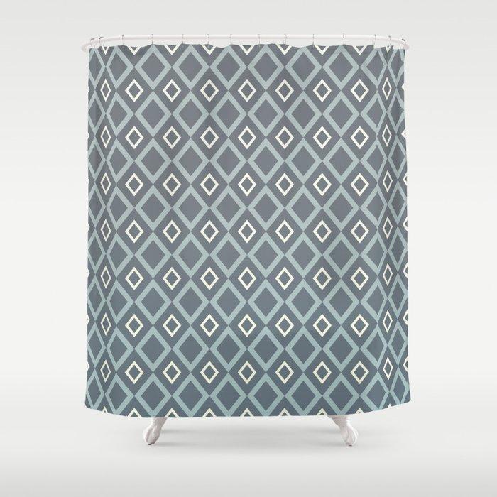 Blues & Grays Shower Curtain