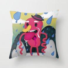 Drip Drop Throw Pillow