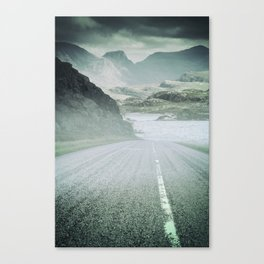 The Road and the Mountains Canvas Print