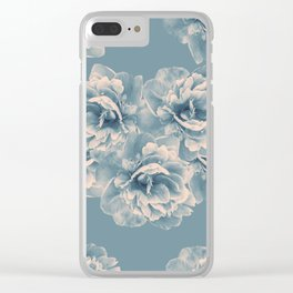 Blush Blue Peony Flower Bouquet #1 #floral #decor #art #society6 Clear iPhone Case