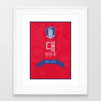 korea Framed Art Prints featuring South Korea by liamhohoho