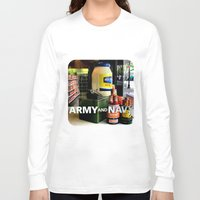 discount Long Sleeve T-shirts featuring Giant Mayonnaise Jar  by Ethna Gillespie