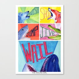Twist! Shout! Jump! Jive! WAIL! Canvas Print