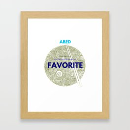 Community ABED Quotes Framed Art Print