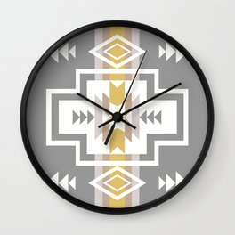 Aztec Stripes Wall Clock